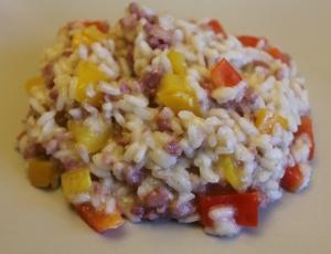 risotto peperoni e salsiccia