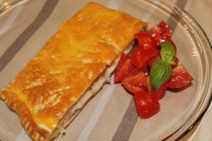 Torta salata brie e speck