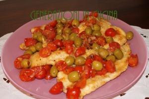 scaloppine pomodorini e olive 2